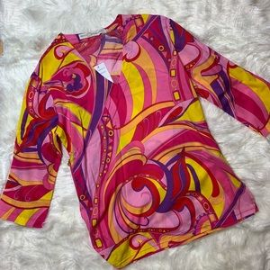 Tops - Bright and colorful Pink blouse xs